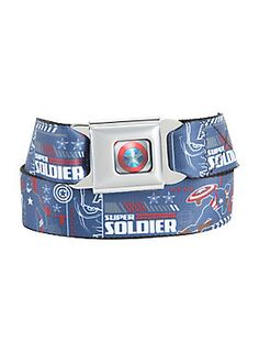 "<p>The Avengers need to remain free to defend humanity without government interference, right? Then show your support for Captain America by wearing this seat belt belt from Marvel's <i>Captain America: Civil War</i>. It features a Captain America ""Super Soldier"" design and authentic seat belt closure.</p>  <ul> 	<li>Adjustable</li> 	<li>Made in USA</li> </ul>"