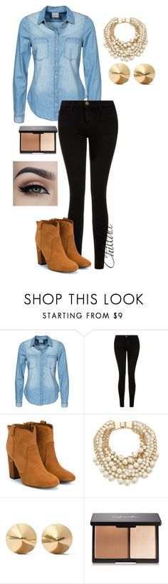 Jeans by chilluci on Polyvore featuring Vero Moda, Current/Elliott, Laurence Dacade, Kate Spade, Eddie Borgo, women's clothing, women's fashion, women, female and woman