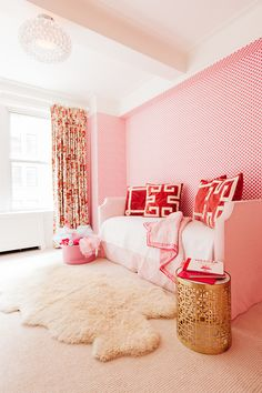 """Kids bedroom by Georgia native, NYC-based interior designer, Lindsey Lane, named a rising star by House Beautiful's 2016 """"Next Wave"""" for her fresh take on traditional Southern style."""