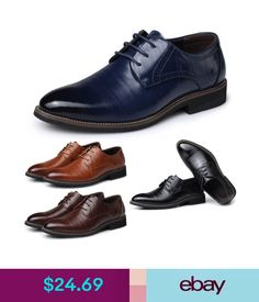 bc790e23ce88  6.18 - Men s Formal Business Oxfords Leather Shoes Leisure Casual  Comfortable Shoes  ebay  Fashion