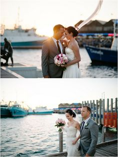 Perth wedding photography Fremantle wedding bride and groom sunset