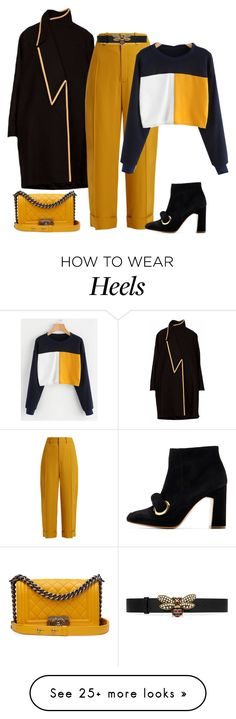 """outfit 7374"" by natalyag on Polyvore featuring Chloé, Chanel, Rupert Sanderson and Gucci"