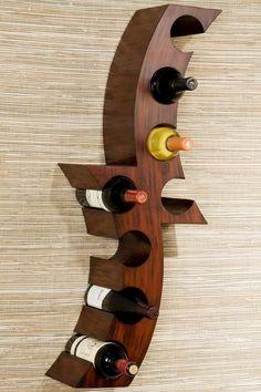 Calabria Wall-Mount Wine Rack - Wine Racks - Home Bar Furniture - Furniture   HomeDecorators.com: