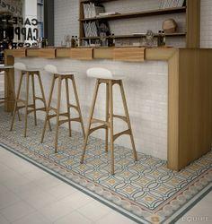 Caprice White, Saint Tropez, Corner / Border Saint Tropez 20x20. #hydraulic, #hydraulic tile, #antique, #traditional, #bath, #room, #house, #deco, #tile, #ceramic, #equipe, #equipe cerámicas,
