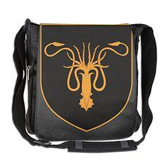 Amurder Custom House Greyjoy Coat Sigil Cross Body Bag Pack Messenger Bags Black