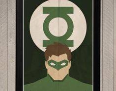 Superman silueta minimalista cartel cartel de por CultPoster