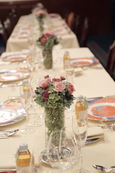 秋の装花 シェ松尾青山サロン様へ 紅茶色のバラたちで : 一会 ウエディングの花