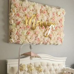 Gold Mirror Name Sign for Backdrop Boxwood Hedgewall Flower Wall - VividEditions Nursery Room, Girl Nursery, Girl Room, Girls Bedroom, Bedroom Decor, Babies Nursery, Child's Room, Flower Wall Backdrop, Wall Backdrops