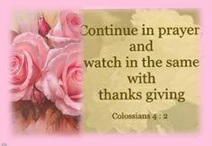 COLOSSIANS 4:2 - Wisdom