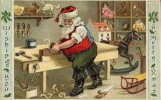 ArsVivendi: ☆ Vintage Christmas Cards: Here's a great idea for vintage postcards and greeting cards: mat and frame them and hang for the holidays!