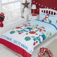 Let It Snow Toddler Duvet Cover Set