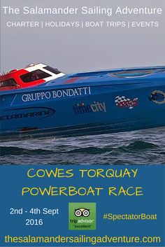 "Gruppo Bondatti - Thrilling ""On the Water"" spectating with The Salamander Sailing Adventure Cowes Torquay Cowes Spectator Boat - The sights and sounds of mighty offshore powerboats at the annual Cowes Torquay Cowes Classic Offshore Powerboat Race - close up action, great viewing and the chance to hear the full-throttle roar of the world's fastest offshore powerboats. Next race 2nd – 4th September 2016 http://www.thesalamandersailingadventure.com/#!cowes-torquay-powerboat-race/mfzi9"