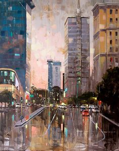 Cape Town, Westerns, Buildings, Illustrations, Artists, Street, Artwork, Painting, Beautiful