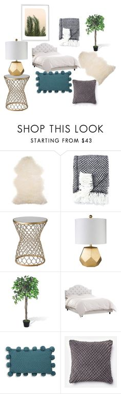 """""""Bedroom"""" by juliesvankjaer on Polyvore featuring Barneys New York, Kate Spade, Skyline, Thro, Loloi Rugs, Wilder California and bedroom"""