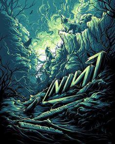 Music Artwork, Cool Artwork, Band Posters, Music Posters, Dan Mumford, Nine Inch Nails, Dark Fantasy Art, Mural Art, Sci Fi Art