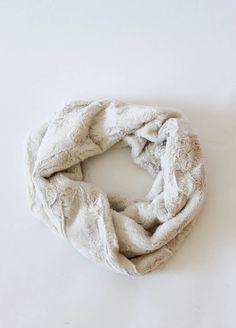 Cream Faux Fur Snood