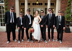 I just like the shoes here for the guys. Maybe a cool pair of shoes they could wear in the wedding and take home as a groomsman gift that could be worn later?
