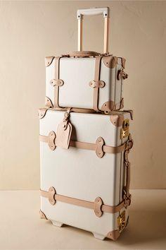 BHLDN Sweetheart Luggage in Décor View All Décor | BHLDN | fashionable honeymoon details