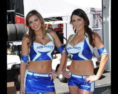 Monterey, California, USA. Falken Tire grid girls.