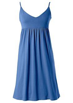 Vestido de alcinhas azul-celeste encomendar agora na loja on-line bonprix.de  R$ 59,90 a partir de Vestido soltinho com decote V profundo,l corte levemente ...