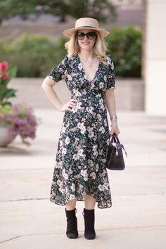 Nordstrom Aniversary Sale 2018 | ASTR the Label Button Front Midi Dress Nordstrom Anniversary Sale Picks + Giveaway!... | The Blue Hydrangeas - A Petite Fashion and Lifestyle Blog #nordstromanniversarysale #petitejeans #petitefashion #nsale