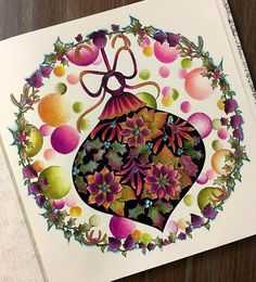 Johanna's Christmas #johannabasford #jardimsecretofans #johannabasford #art #art_we_inspire #colorindolivrostop #coloringbook #colorful #adultcoloringbook #artecomoterapia #beautifulcoloring #artecomoterapia #jardimsecretolove #coloring_masterpieces #ar