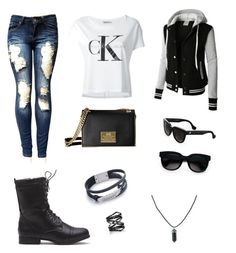 """Blå mandag"" by melina-skaalum-christensen ❤ liked on Polyvore featuring Calvin Klein Jeans, LE3NO, Balenciaga and Eva Fehren"