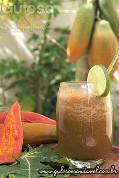 Suco de Mamão Detox » Bebidas, Liquidificador, Receitas Saudáveis » Guloso e Saudável