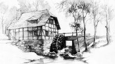 Watermill by micorl on DeviantArt
