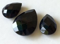 Black Onyx Faceted Drops Black Onyx 3 pc Set by gemsforjewels