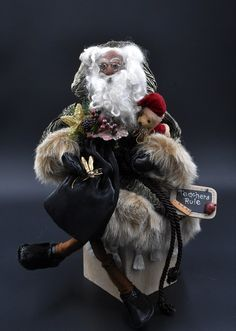Your place to buy and sell all things handmade Father Christmas, Family Christmas, Christmas Traditions, Art Dolls, Santa, Victorian, Sculpture, Handmade, Etsy