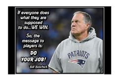 """Motivational ready to frame football poster. """"Do your job"""" Bill Belichick quote. Football Wall art. Motivational Wall Art, Inspirational Wall Art, Wall Art Quotes, Quote Wall, Football Motivation, Team Motivation, Football Wall, Basketball Wall, Patriots Football"""