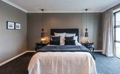 Sleep easy at night in this comfy room! Furniture, Relax, House Design, Room, House, Home, Show Home, Bed, Bedroom