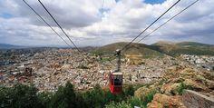 Vista panorámica de la ciudad de Zacatecas desde el teleférico.
