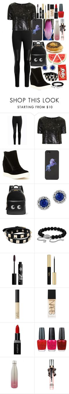 """""""#346"""" by moon-and-starss ❤ liked on Polyvore featuring Topshop, Steve Madden, With Love From CA, Anya Hindmarch, Effy Jewelry, Valentino, David Yurman, Rouge Bunny Rouge, Yves Saint Laurent and NARS Cosmetics"""