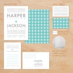 Modern Wedding Invitation Package - Love Addition