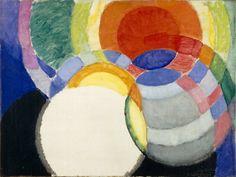 František Kupka (1871-1957), Disques de Newton. Étude pour Fugue à deux couleurs / Newton discs. Study for Fuge in two colors, 1911-12.