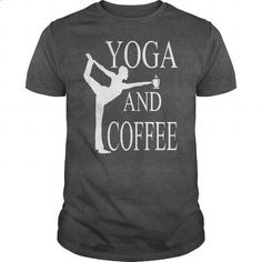 YOGA AND COFFEE - #white hoodies #t shirt websites. GET YOURS => https://www.sunfrog.com/Fitness/YOGA-AND-COFFEE-Dark-Grey-Guys.html?id=60505