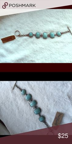 Turquoise bracket Sterling silver turquoise bracelet Lucky Brand Jewelry Bracelets
