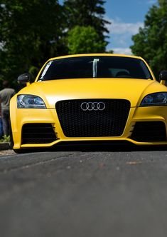 ◆ Visit ~ MACHINE Shop Café ◆ ❤ Best of Audi @ MACHINE... ❤ (Acid Yellow Audi TT RS Sportscar)