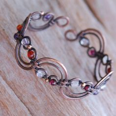 Wire wrapped bangle