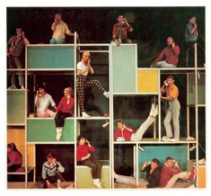 A picture from the original Broadway set of BYE BYE BIRDIE. We love the bright colors.