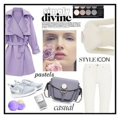"""Pretty pastel trench"" by gold-candle23 ❤ liked on Polyvore featuring Acne Studios, NIKE, Eos, Witchery, women's clothing, women's fashion, women, female, woman and misses"