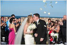 Ceremony at San Cristobal fortress, Old San Juan, Puerto Rico.  #WeddingCeremony #OldSanJuanWedding #DestinationWedding WeddingsinPuertoRico