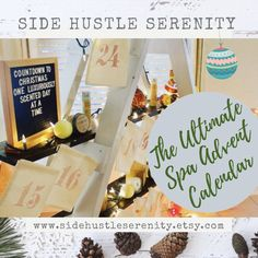 📦📬 SHIPPING STARTS NEXT WEEK📦📬Ultimate Serenity Advent Calendar | Bath Bombs | Candles | Bath Salts | Whipped Sugar Scrub | Spa Advent Calendar | Countdown to Christmas www.sidehustleserenity.etsy.com