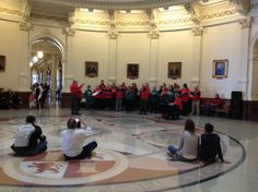 The State Employee Holiday Choir treated Capitol visitors to a lovely round of Christmas carols. December 18, 2013.