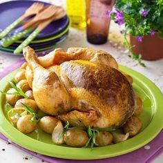 Découvrez la recette Poulet rôti aux herbes sur cuisineactuelle.fr.