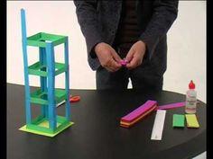 Knikkerbaan constructie van papier