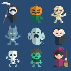 Digital Halloween Clip Art Character - by EtsiCoDesign on Etsy Dulceros Halloween, Adornos Halloween, Halloween Clipart, Halloween Crafts For Kids, Halloween Pictures, Halloween Illustration, Halloween Creatures, Halloween Templates, Zombie Party