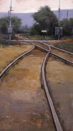 Railroad tracks, by Simon Winegar